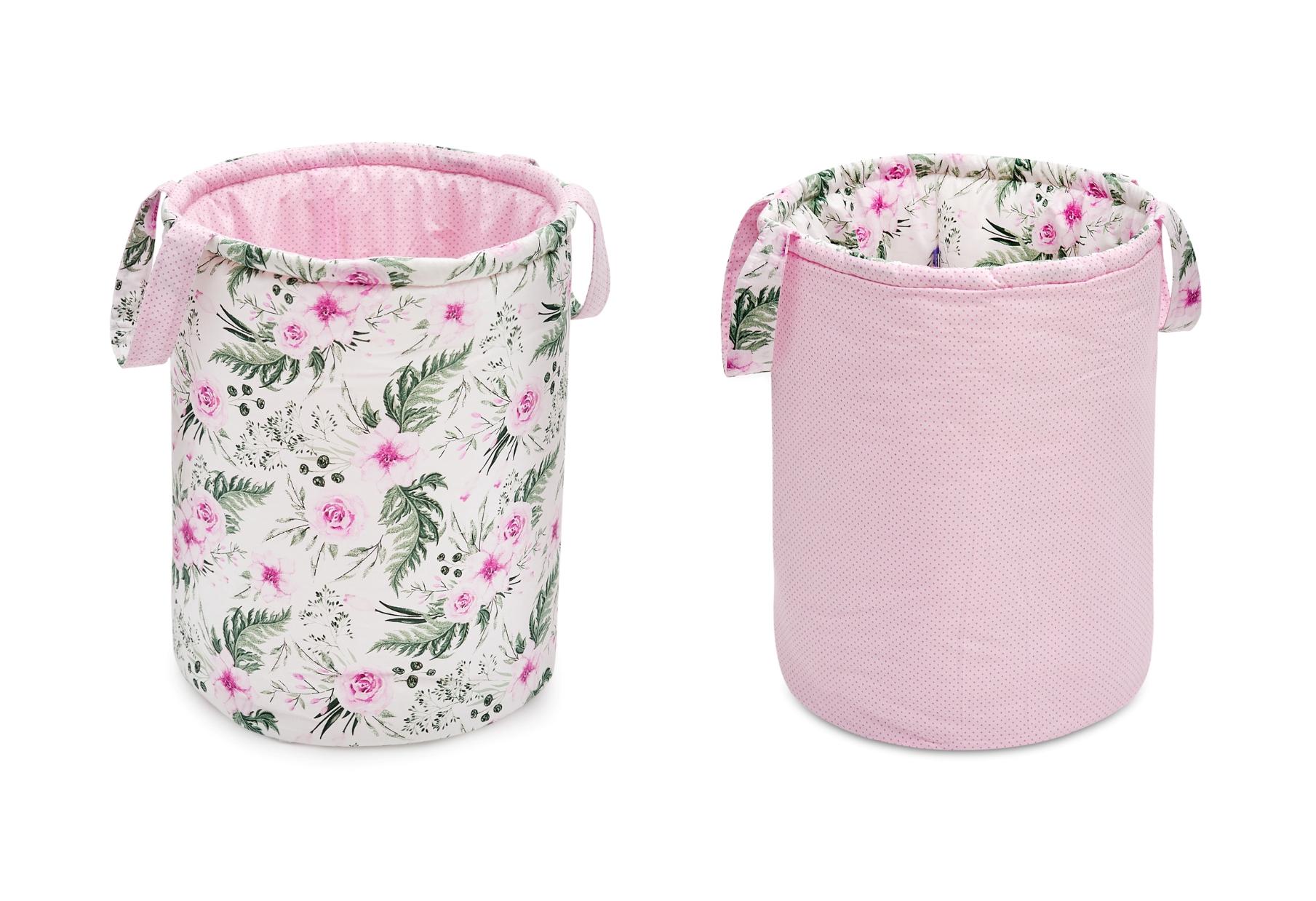 kosz na zabawki dwustronny in garden pink Jukki